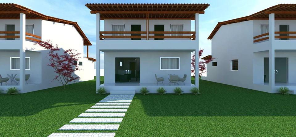 Fachada frontal casa padrão